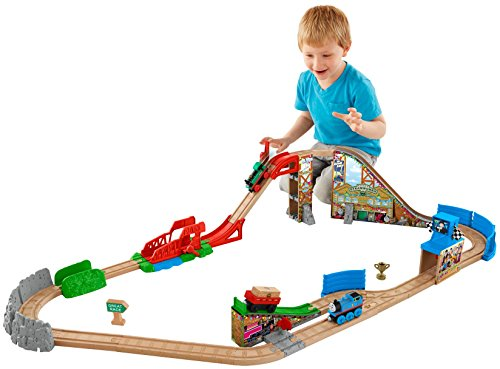 Thomas & Friends Fisher-Price Wooden Railway, Race Day Relay Set