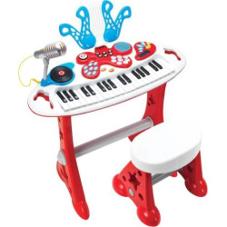 Power House Electronic Keyboard Super Star Set by Winfun, Red