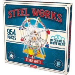 steel works metal ferris wheel construction set multicolor - Steel Works Metal Ferris Wheel Construction Set, Multicolor
