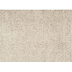 World Rug Gallery Florida Cozy Solid Shag Rug, Med Beige