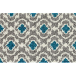 world rug gallery florida cozy moroccan trellis shag rug turquoiseblue - World Rug Gallery Florida Cozy Moroccan Trellis Shag Rug, Turquoise/Blue (Turq/Aqua)