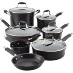 anolon advanced hard anodized nonstick 12 piece cookware set black 150x150 - Tramontina 12 Cast Iron Skillet with Lid - Blue