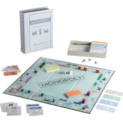 monopoly game linen vintage bookshelf edition by winning solutions multicolor - Monopoly Game Linen Vintage Bookshelf Edition by Winning Solutions, Multicolor