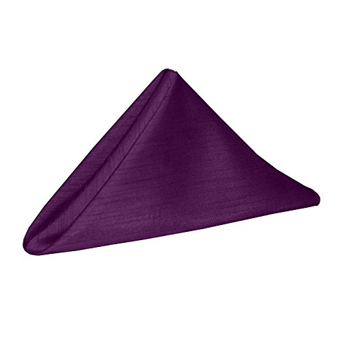 ultimate textile 10 dozen reversible shantung satin majestic 20 x 20 inch - Ultimate Textile (10 Dozen) Reversible Shantung Satin - Majestic 20 x 20-Inch Cloth Dinner Napkins - for Weddings, Home Parties and Special Event use, Plum