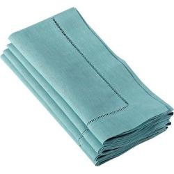 hemstitched dinner napkins sea green set of 12 - Hemstitched Dinner Napkins Sea Green (Set of 12)