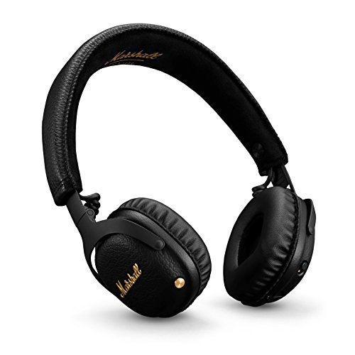 marshall mid anc active noise cancelling on ear wireless bluetooth headphone - Marshall Mid ANC Active Noise Cancelling On-Ear Wireless Bluetooth Headphone, Black (04092138)