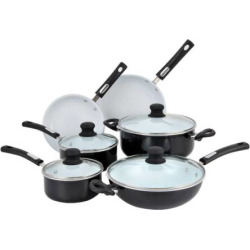 hamilton beach 10 pc aluminum cookware set black - Hamilton Beach 10-pc. Aluminum Cookware Set, Black