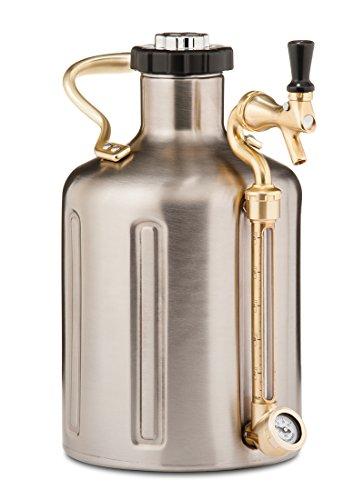 uKeg 128 Pressurized Growler for Craft Beer – Stainless Steel