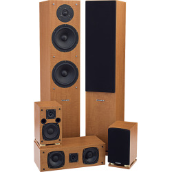 Fluance 5 Speaker Surround Sound Home Theater System SX-HTB+