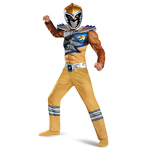Gold Ranger Dino Charge Classic Muscle Costume, Large (10-12)