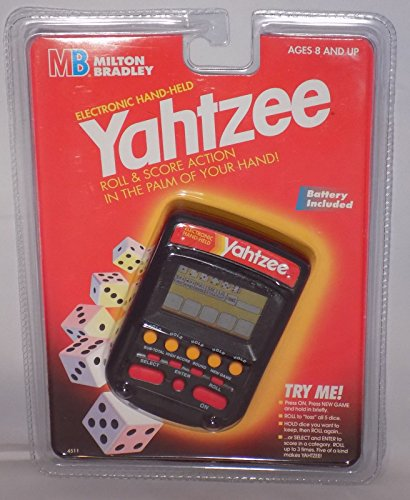 yahtzee handheld electronic game 1995 - Yahtzee Handheld Electronic Game (1995)