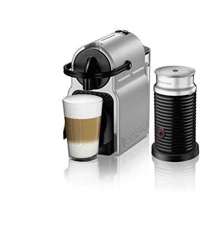 nespresso inissia espresso machine by delonghi with aeroccino silver - Nespresso Inissia Espresso Machine by De'Longhi with Aeroccino, Silver