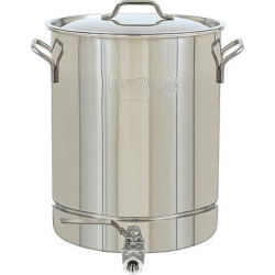 bayou classic stainless stockpot with spigot 8 gal - Bayou Classic Stainless Stockpot with Spigot - 8 Gal.