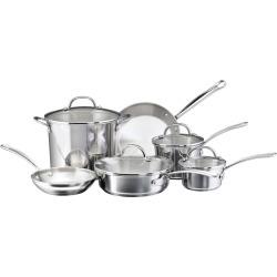 farberware millennium 10 pc stainless steel cookware set multicolor - Farberware Millennium 10-pc. Stainless Steel Cookware Set, Multicolor