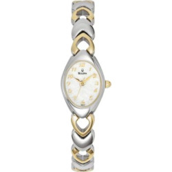 Bulova Women's Dress Two Tone Stainless Steel Watch – 98V02, multicolor
