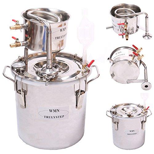 New 5 Gal 20 Litres Alcohol Moonshine Ethanol Still Spirits Stainless Steel Boiler Water Distiller Wine Making Kit