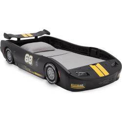 Delta Children Turbo Race Car Twin Bed, Black