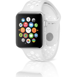 Apple Watch Nike+ 42mm Silver Case w/ Sport Band – Pure Platinum / White (Scratch and Dent)