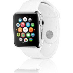 Apple Watch Series 2 w/ 42mm Stainless Steel Case & Sport Band – White (Refurbished)