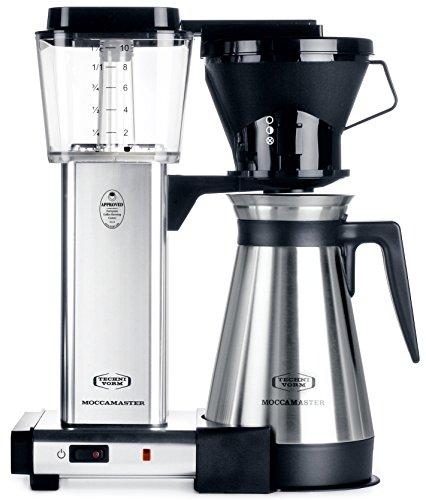 technivorm moccamaster kbt 741 79112 coffee brewer 40 oz polished silver - Technivorm Moccamaster KBT-741 79112 Coffee Brewer, 40 oz, Polished Silver