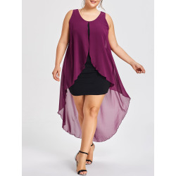 Plus Size Sleeveless Dress