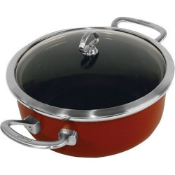 chantal copper fusion 4 quart risotto pan with lid red - Chantal Copper Fusion 4 Quart Risotto Pan with Lid - Red