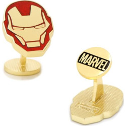 marvel iron man helmet cuff links gold - Marvel Iron Man Helmet Cuff Links, Gold