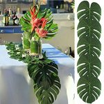 koyal pack of 6 50pcs 138 by 114inch large hawaiian artificial soft 150x150 - Toscana Classic Natural Tablecloth. One Piece. (132 Inch Round)