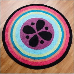 One Grace Place Magical Michayla Round Rug (3X3′), Multi-Colored