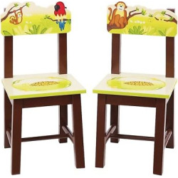 Guidecraft Jungle Party Chairs – Set of 2
