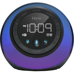 iHome App-Enhanced Bluetooth Color-Changing Dual Alarm Clock Radio, Multicolor