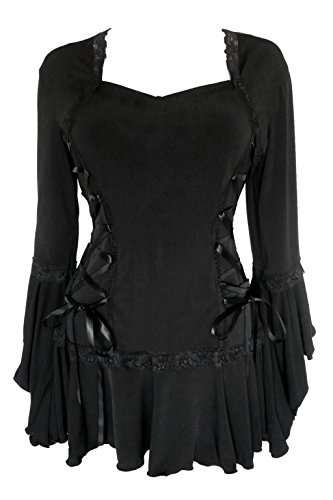 Dare To Wear Victorian Gothic Boho Women's Plus Size Bolero Corset Top Black 5x