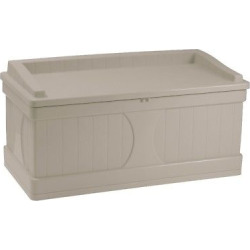 suncast deck box with seat taupe brown 99 gallon - Suncast Deck Box with Seat Taupe (Brown) - 99 Gallon