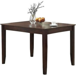 Wood Dining Kitchen Table – 60 – Espresso – Saracina Home, Brown