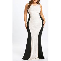 Plus Size Sleeveless Mermaid Gown