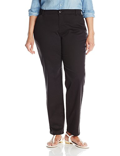 LEE Women's Plus-Size Relaxed-Fit All Day Pant, Black, 18W Medium