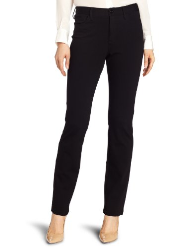 NYDJ Women's Samantha Slim Ponte Pant, Black, 10