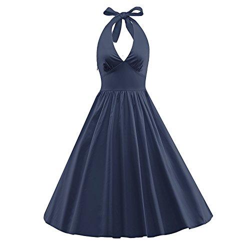 iLover Women's 1950s Vintage Marilyn Monroe Rockabilly large swing Dress