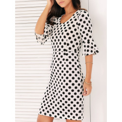 Women's Bell Sleeves Polka Dot Dress