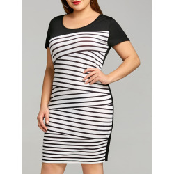 Stripe Plus Size Tee Dress