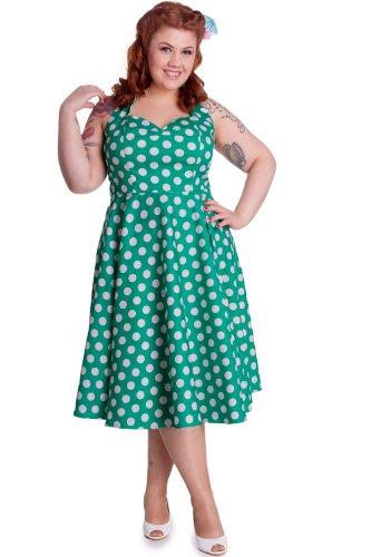 Polka Dot Halter Vintage Plus Size Dress