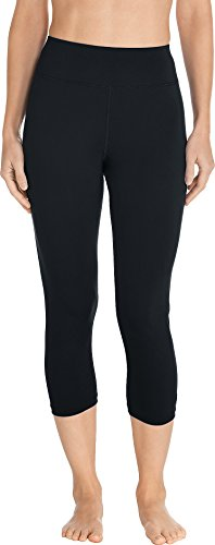 Coolibar UPF 50+ Women's Deep Water Swim Capris – Sun Protective (Small- Black)