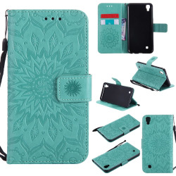 Yanxn Sun Flower Printing Design Pu Leather Flip Wallet Lanyard Protective Case for Lg X Power