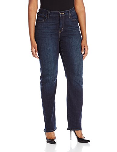 Levi's Women's Plus Size 414 Classic Straight Jean's, Thistle Lake, 40 (US 20) R