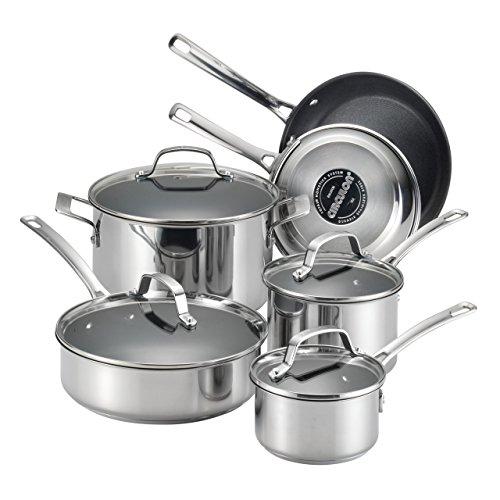 circulon genesis stainless steel nonstick 10 piece cookware set - Circulon Genesis Stainless Steel Nonstick 10-Piece Cookware Set