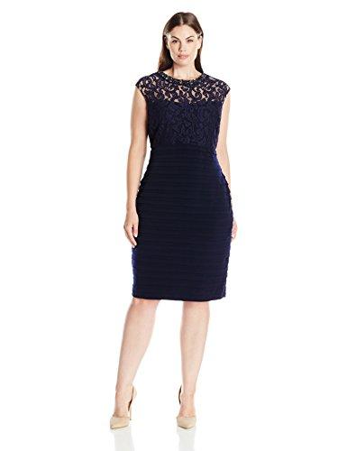 ABS by Allen Schwartz Women's Plus Size Sleeveless Asymmetric Off Shoulder Gown, Flame, 22W