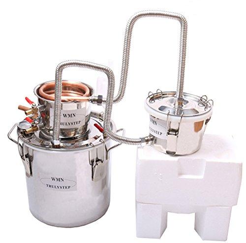 3 Pots DIY 3 Gal 12 Litres Copper Alcohol Moonshine Ethanol Still Spirits Boiler Water Wine Distiller