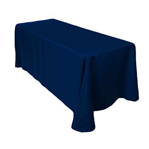 Craft and Party – 10 pcs Rectangular Tablecloth for Home, Party, Wedding or Restaurant Use (90″ X 132″, Navy Blue)
