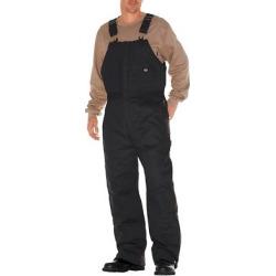 Dickies Men's Canvas Insulated Bib Overall- Black Medium Short, Size: M Short