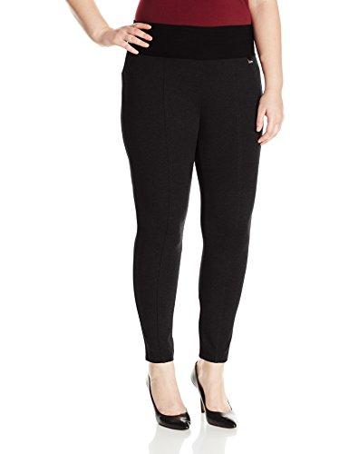 Calvin Klein Women's Plus-Size Modern Essential Power Stretch Legging with Waist Band, Black, 2X